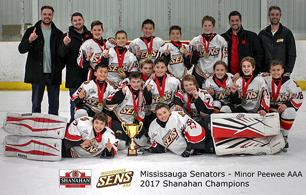 Mississauga Sens (2006) Minor Peewee - 2017 Shanahan Tournament Champions