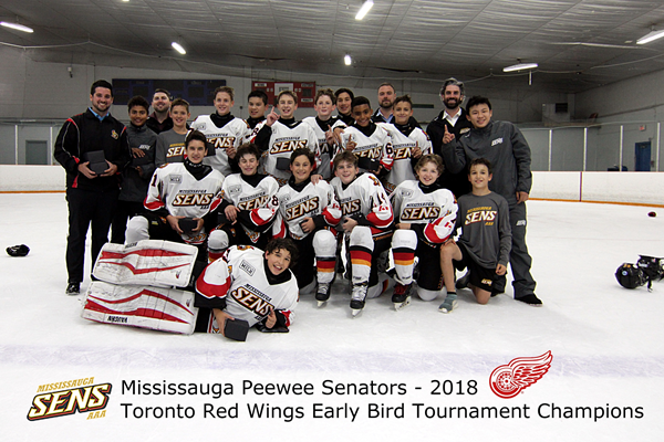 PeeWee Senators Toronto Red-Wing-Early Bird Tournament Champions